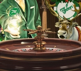 Mr Green w loteriach przy stole Christmas Roulette Table rozda 120 000 PLN